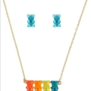 BETSEY JOHNSON GUMMY BEAR NECKLACE & EARRINGS